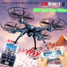 RC Drone with Wifi Com Camera HD X5SW X5SW-1 Real Time Profissional FPV Quadcopter Remote Control Helicopter Vs X8W X8HW X101(China)