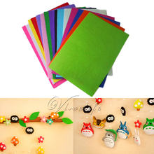 15pcs 30cm*30cm Handicraft A4 Sheets Felt Fabric Crafting 1mm thick Sewing Glue Scrapbooking DIY One Piece Of Each 15 Colours(China)