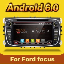2 din car radio android 6.0 for ford focus 2 support steering wheel ,mirror link, BT, sd, usb, free map, canbus