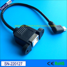 20cm usb2.0 type b female to mini USB cable usb bf to mini usb usb b socket to wire end cable