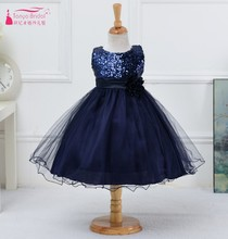 Cheap Price Girl beauty pageant Dresses 10 Colors Sequins Tulle Ball Gown Flower Girl Dress Sleeveless Little Girl Gown