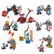 8pcs/lot NEW Nexo Knights Future Shield figures Building Blocks Castle Warrior Nexus Kids Toys Gift Compatible With Lepin