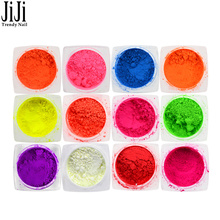 1pcs Fluorescence Glimmer Nail Art Glitter Powder Dust Neon Color Designs DIY Pink For Gel Nail Polish Manicure Tools JIYE01-13(China)