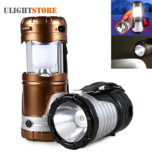 Retractable USB Solar LED Camping Tent Light Lamp Waterproof Outdoor Portable Lantern for Camping Hiking Emergency Flashlight