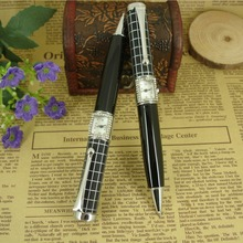Original Unique Design Metal Checker Pattern Ball Pen with Watch 51g Heavy for Exclusive Shop Retail Luxurious Multifunction Pen