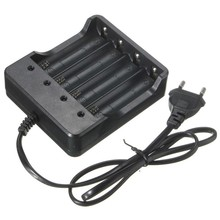 EU / US Plug 4 Slots Intelligent Battery Charger with Short Circuit Protection For 4X 18650 Lithium-ion Rechargeable Battery