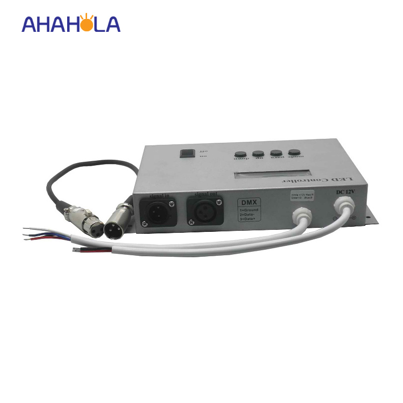 34 modes dc 12v dmx led controller for rgb led strip with LCD digital display accept dmx 512 signal output 3 channel max 288w<br><br>Aliexpress