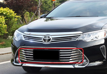 Car Stainless Steel Racing grille auto Chrome plating decoration products accessories 15pcs for 2014 2015 Toyota Camry