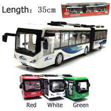 New 1:48 alloy model bus plastic diecasts toy vehicles pull back flashing with musical high simulation tourist bus long bus(China)