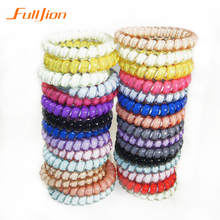 3Pcs/Lot Hair Accessories Gum Telephone Wire Hairbands Headwear Elastic Spring Hair Bands Hair Ties/Rings/Ropes Ponytail Holder
