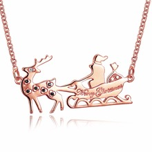 2018 SUPER necklace Santa Claus Deer eve Hot Xmas Christmas Holiday jewelry jewellery new year celebration joy 2018 gift(China)