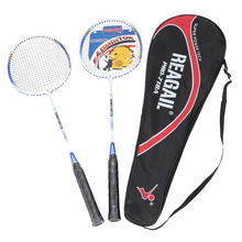 REGAIL Lightweight Badminton Racquet with Carry Bag 2Pcs Aluminium Alloy Training Badminton Racket Sport Equipment Durable