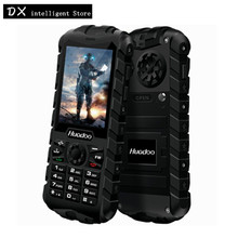 Huadoo H3 GSM Dual Sim CellPhons 2.4Inch 1300mAh Senior Old Man Oudoor IP68 Waterproof FM Unlocked Rugged Mobile Phone Russia