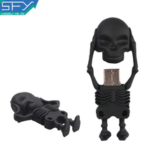 2015 New SFY Real Capacity High Speed Human Skeleton 8GB 16GB 32GB Pen Drive Pendrive USB Flash Drive For PC Free Shipping(China)