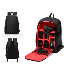Water-resistant Waterproof Digital DSLR Photo Padded Backpack Rain Cover Laotop Multi-functional Camera Soft Bag Video Case(China)