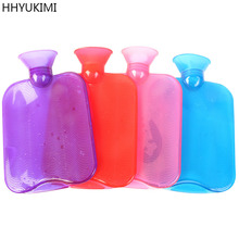 HHYUKIMI 1pcsHigh-density Thick PVC Transparent Water-filled Rubber Hot Water Bottle Explosion-proof Hand Po Massage Health Care(China)