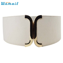 Womail Good Deal   Hot Sale Fashion brand  Female Brief Wide Belt Decoration Elastic Cummerbund Strap Dress Accessories 1pcs