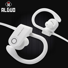 ALANGDUO Wireless Bluetooth Earphones CVC Noise Cancelling Sports Running Headphones Handsfree with Mic Bluetooth Stereo Earbuds(China)