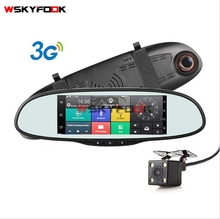 3G Quad Core Android GPS 5.0inch Bluetooth Network Communication WIFI Spot Function Full HD1080P Car DVR Rearview Mirror(China)
