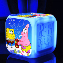 sponge bob spongebob New LED 7 Colors Change Digital bob esponja plush doll Night Colorful Glowing toys Stuffed & Plush Animals
