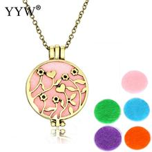 Charm Antique Perfume Necklace Locket Fragrance Oil Pendant Necklace for Women Diffuser Vintage Necklace Jewelry for Women Gift