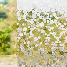 Funlife 45x100cm 17.7x39.4in Cobblestone 3D Static Cling Privacy Decal,Decorative Window Film,Glass Window Vinyl Film Free ship