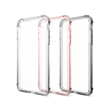 "5.5"" Original Crystal Shell Case for iPhone 7 Plus Military Grade Drop-proof Clear Back Panel Hybrid Cases with Retail Package"