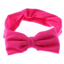 1PC 2017 Kawaii Girls Kids Lovely Soft Cotton Bow Hairband Headband Stretch Turban Knot Head Wrap Hair Band Accessories