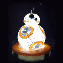 HAIXIANG Star Wars BB-8 Eyecare Night Lights LED 7 Colour Change Luminaria Decorative lighting Mood Lamp great gift for kids(China)