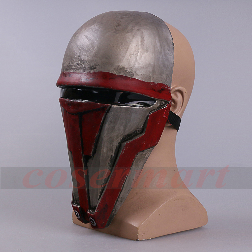 Movie Star Wars Knights of the Old Republic Darth Revan Mask Cosplay Helmet Masks Adult Latex Halloween Party Prop (10) -