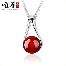 Only 925 Sterling Pendant move China good luck peace natural necklace pendant jewelry female(China)