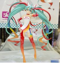 Original BANPRESTO SQ sex Hatsune Miku figure toy racing miku 2016 model anime Figurine