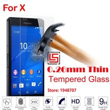 Cheap New Best Anti-Explosion 2.5D 0.26mm 9H Hard Phone Cell Front Tempered Toughened Glass Cristal For Sony Soni Xperia X
