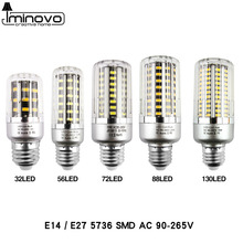 LED Light E27 LED Lamp E14 LED Corn Bulb Lampada 32 56 72 88 130 LEDs SMD5736 220V Corn Bulb Chandelier Candle Home Decoration(China)