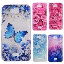 Phone Cases sFor Huawei Honor Bee Y5C Flowers Rose Plants Butterfly Pattern Clear Soft TPU Back Cover for Huawei Y541 Y541-U02