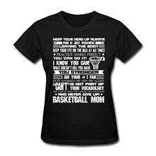 Basketballer Mom Motivation Slogans Women's T-Shirt Branded 100 % Cotton Women T Shirt 2017 Summer Cotton Classic Top Tee(China)