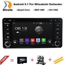 Free Shipping 2din Car DVD GPS Android For MITSUBISHI OUTLANDER 2013 2014 GPS BT Radio Miralink wifi,Support DAB/DTV/3G Free map(China)