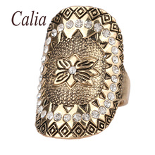 2016 Fashion Gold Colour Crystal Retro Jewelry Bohemia Rings For Women Mens Rings Can Be Used With Select Midi Wedding Rings