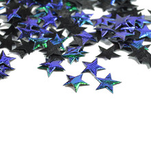 100pcs 15mm Table Decoration stars Step purple black color star shinning confetti Party decoration table confetti(China)
