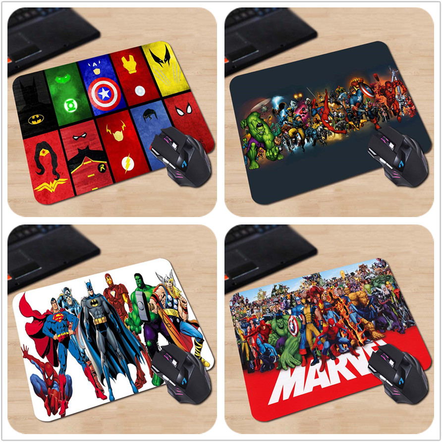 250x290x2mm Marvel Comics Superheroes Collage Customized Mouse Pad Fashion Avengers Computer Notebook Gaming Mice Mat Pad<br><br>Aliexpress