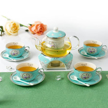 European-style high-grade suits bone china flower tea pot sets ceramic coffee mugs with saucer spoon