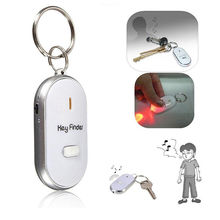 4 Colour Key Finder Sound Whistle Control LED Locator Find Lost Unisex Keychain Plasic Keys Chains Key Holder Rings Women Men