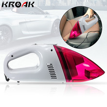 KROAK DC 12V 60W Red Mini Car Portable Rechargeable Wet Dry Handheld Vacuum Cleaner High Power Lightweight(China)