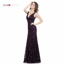 Sexy Prom Dresses Sequined Ever Pretty HE08855 Deep V Neck Natural Waist Sparkle Floor Length Special Party Gowns Prom Dresses(China)