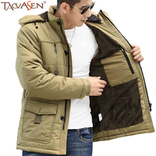 TACVASEN Winter Men's Jacket Plus Thick Velvet Outdoor Sport Coat Windbreaker Men Fashion Jackets Camping Hiking Jacket SH-BQ-03(China)