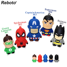 Superhero USB Flash Drive Mini Captain American Spider Man Batman Pen drive 64GB USB Flash Drive 8GB 16GB 32GB USB Stick(China)