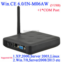 Win.ce 6.0 black color windows 7 thin client N380W with 1 COM WiFi Builtin 3 usb port ARM11 800MHZ RDP 5.0 connection to server(China)