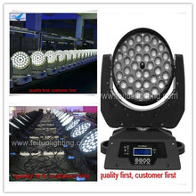 8pcs/lot free shipping stage lighting zoom 36x18w rgbwa uv 6in1 led moving head/led wash moving head(China)