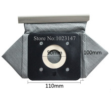 2 pieces/lot Vacuum Cleaner Bag Non Woven Bags 110mm*100mm Plastic tray Washable Dust Bag Replacement for Electrolux etc.