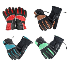 1Pair 12V Electric Gloves Charge Heated Gloves Sport Temperature Control Rechargeable For Motorcycle Hunting Winter Warmer(China)